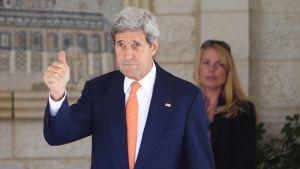 Yhdysvaltain ulkoministeri Ramallahissa John Kerry 23. heinäkuuta.
