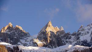 Aiguilles de Chamonixin vuorijono Ranskassa.