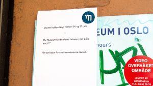 Juutalaismuseo Oslossa on suljettu terrorismiuhan vuoksi.