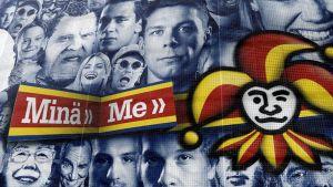 Yhdysvaltain valtiovarainministeriön pakotelistalla ovat muun muassa Jokeri-omistajat Gennadi Timtshenko sekä Arkadi ja Boris Rotenberg. Kuvassa KHL:aan siirtyvän Jokerien logo kotihalli Areenan seinässä Helsingin Ilmalassa 20. maaliskuuta.