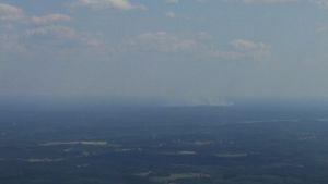 Venäjän metsäpaloa kuvattuna lentokoneessa