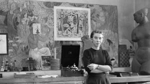Tove Jansson kuvattuna vuonna 1956.