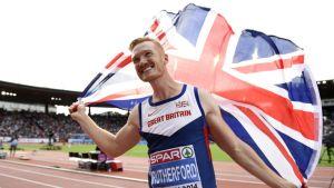 Iso-Britannian pituushyppääjä Greg Rutherford EM-kisoissa 2014