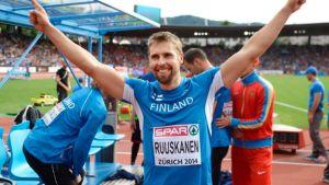 Antti Ruuskanen EM-kisoissa 2014