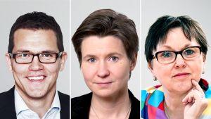 Ryhmäpäällikkö Antti Oksa, S-ryhmä, ekonomisti Laura Solanko, Suomen pankki, toimitusjohtaja Mirja Tiri, Suomalais-Venäläinen kauppakamari.