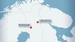 Soklin kaivoshanke sijaitsee Savukoskella. Se vaatisii joko tie- tai ratainvestointeja.