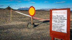 Pääsy Bardarbungan läheisyyteen Islannissa oli estetty 23. elokuuta.