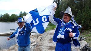 Kai ja Jaakko Lepistö ovat kokeneet monia asioita kannustaessaan Suomea.