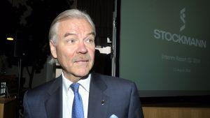 Toimitusjohtaja Hannu Penttilä esitteli Stockmannin osavuosikatsauksen Helsingissä 13. elokuuta 2014.