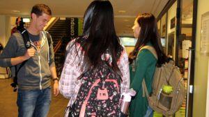 Kansainvälisiä opiskelijoita Lappeenrannan teknillisellä yliopistolla syksyllä 2014.