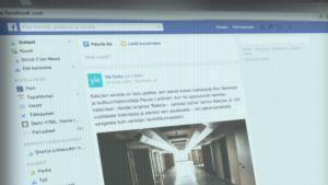Facebookin kotisivu.