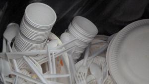 Sammonlahden koulussa käytetään tilapäisesti muoviastioita
