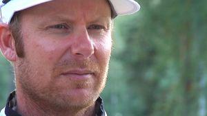 Mikko Ilonen Takkulan golfkentällä Lahdessa.