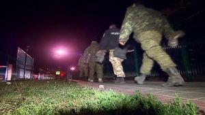 Venäläiset sotilaat palautetaan Venäjälle.