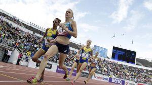 Sandra Eriksson haastoi Meraf Bahtan 1 500 metrillä.
