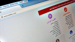 Nettisivu Iranissa.