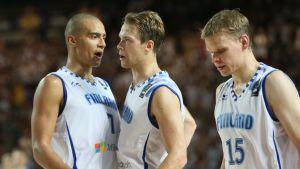 Shawn Huff, Petteri Koponen ja Teemu Rannikko.