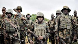 Yhdysvaltojen tukemia joukkoja Somaliassa 31. elokuuta.
