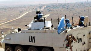 YK:n rauhanturvaajia Golanin kukkuloilla.