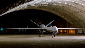 MQ-9 Reaper -tiedustelulennokki Baladin tukikohdassa Irakissa.