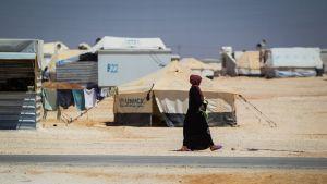 Syyrialaispakolaisten leiri Jordaniassa.