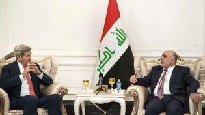 John Kerry ja Haider al-Abadi.