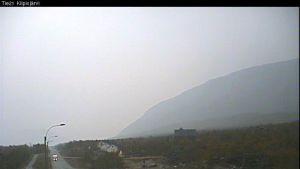Liikenneviraston kelikameran kuva Kilpisjärveltä klo 16:15 keskiviikkona 10. syyskuuta.