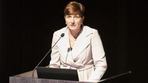 Vuáđupalvâlemminister Susanna Huovinen