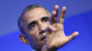 Yhdysvaltain presidentin Barack Obama.