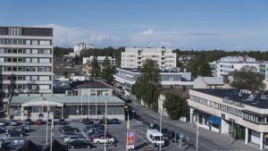 Kuva Pietarsaaren keskustasta.