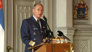 Puolustusvoimain komentaja, kenraali Jarmo Lindberg
