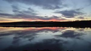 Auringonlasku Tornionjoella