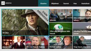 Kuvakaappaus Yle Areenan äly-tv-sovelluksesta.