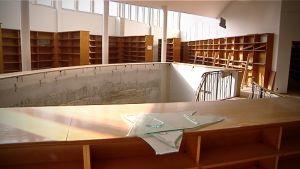 Seinäjoen vanha kirjasto remontissa.