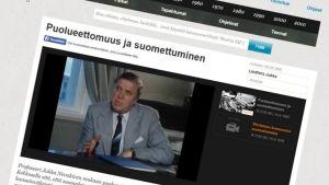 Suomettumista tuoreeltaan 70-luvulla kommentoi mm. pitkäaikainen ministeri Johannes Virolainen.
