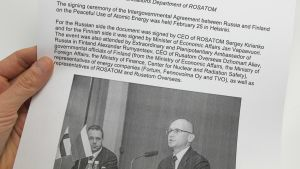 Valokuva Rosatomin helmikuussa verkkosivuillaan julkaisemasta tiedotteesta.