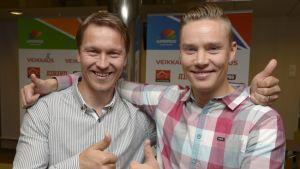 Sotkamon Jymyn Toni Kohonen ja Mikko Korhonen.
