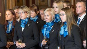 Vuoden 2014 ammattaitaidon EM-kisojen Suomen joukkue koolla Säätytalolla syyskuussa.