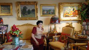 Imelda Marcos asunnossaan Manilassa 7.6.2007.