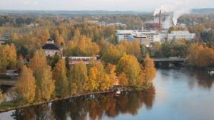 Pielisjoen linna Joensuun Ilosaaressa.