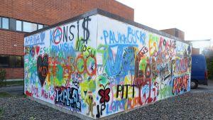 Graffitiseinämän molemmat sivut