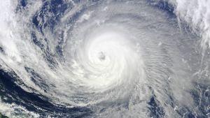 Satelliittikuva taifuunista.
