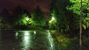 Katuvalloja syksyisessä Oulussa.