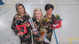 Miss Pohjois-Suomi Beauty-kisan voittajat.