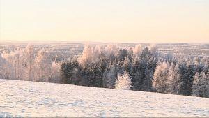 Selkien talvista maisemaa.