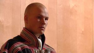 Tuomas Keskitalo VGD-sámiid ovddasteaddjin ILO-gullandilálašvuođas 15.10.2014.