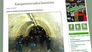 Kuvakaappaus patriootti.com -sivustolta, katupartio