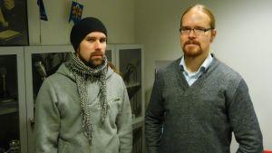 Insomniumin Markus Vanhala (vas.) ja Niilo Sevänen.