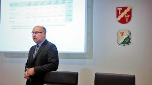 Juha Yli-Rajala Tampereen budjetti-infossa