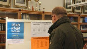 Joensuun Niinivaaran lukiolla on mahdollista äänestää ennakkoon seurakuntavaaleissa.